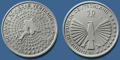 10 Euro Gedenkmünze 50 Jahre Römische Verträge - Deutschland 2007
