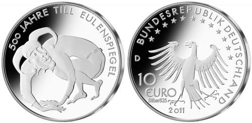 10 Euro Münze Eulenspiegel