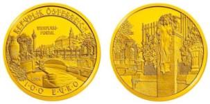 100 Euro Goldmünze Wienflussportal 2006
