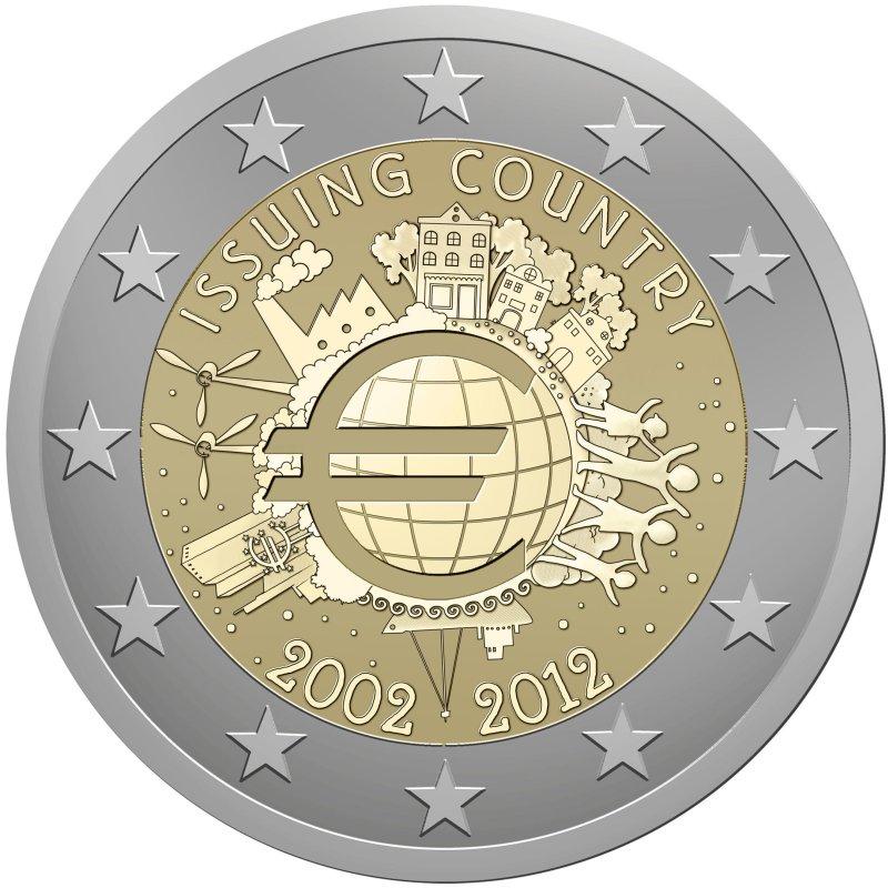 Entwürfe Für 2 Euro Münze 10 Jahre Euro 2012