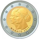 2 Euro Münze Monaco 2011