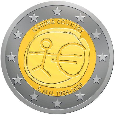2 Euro Gedenkmünze 10 Jahre Euro