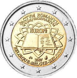 2 Euro Römische Verträge Belgien