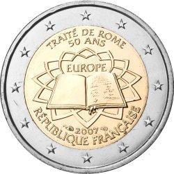 2 Euro Römische Verträge Frankreich