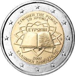 2 Euro Römische Verträge Griechenland