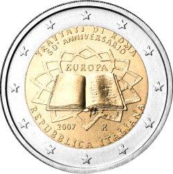2 Euro Römische Verträge Italien