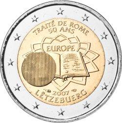 2 Euro Römische Verträge Luxemburg