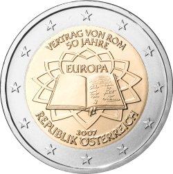 2 Euro Römische Verträge Österreich