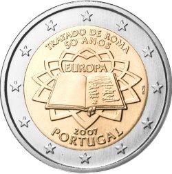2 Euro Römische Verträge Portugal