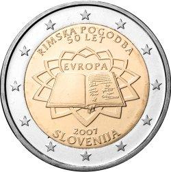 2 Euro Römische Verträge Slowenien