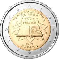 2 Euro Römische Verträge Spanien