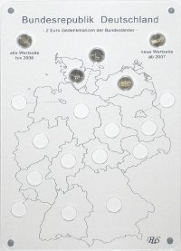 2 Euro Wandbild Bundesländer-Serie