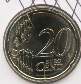 20 Cent Stempelriss Slowenien 2008