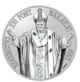 5 Euro Vatikan Silbermünze 2010