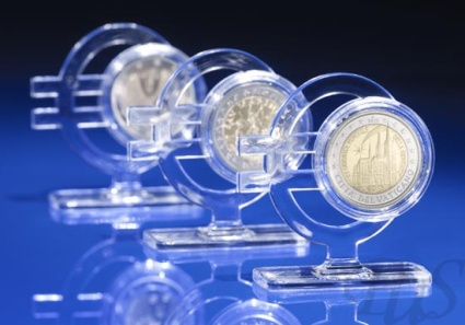 Acryglasaufsteller für 2 Euro Münzen