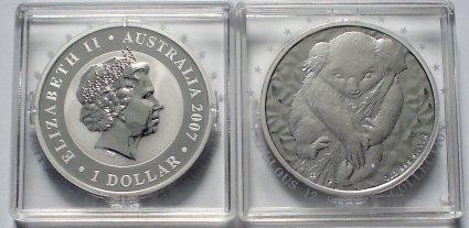 1 Dollar Koala Silbermünze Australien