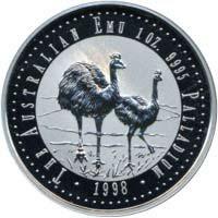 Australische Emu-Palladium-Münze von 1998