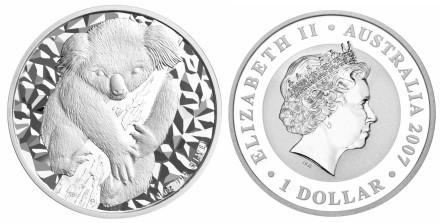 Koala-Silbermünze Australien 2007