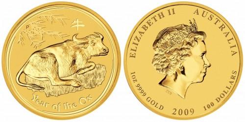 Lunar Goldmünze 2009 Australien