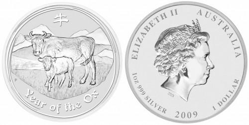 Lunar Silbermünze 2009