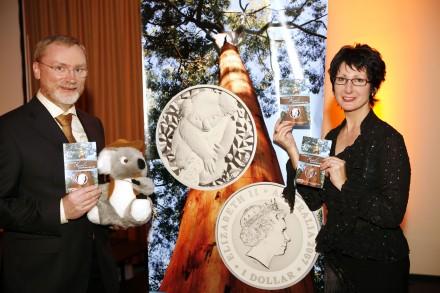 Präsentation der australischen Koala-Münze