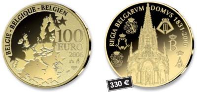 100 Euro Goldmünze Belgien 2006