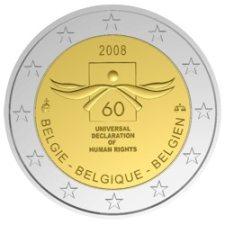 2 Euro Menschenrechte Belgien