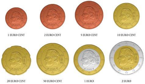 Umlaufmünzen Belgien ab 2008