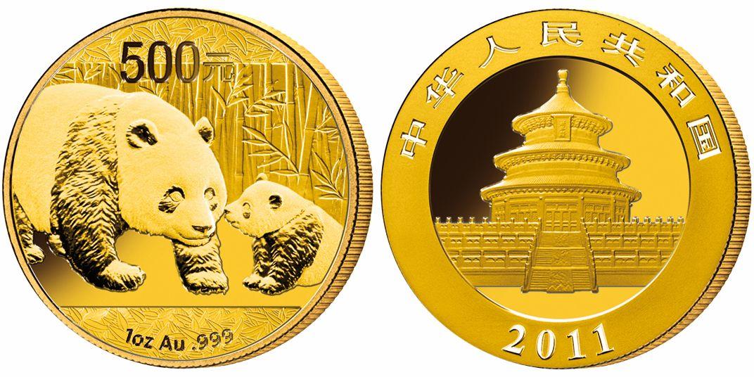Gold Und Silber Panda Münzen 2011 Aus China