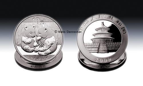 Silber Panda 2009 aus China