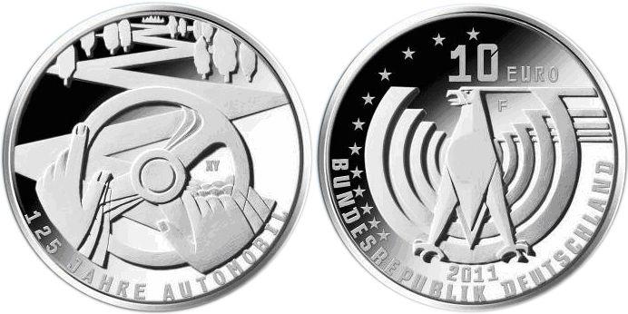 Entwürfe Für 10 Euro Münze Automobil 2011