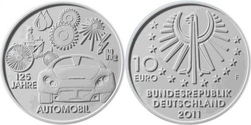 4. Platz - 10 Euro Münze Automobil
