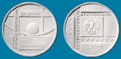 10 Euro Münze Deutsche Bundesbank 2007