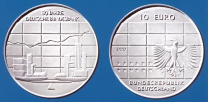 10 Euro Gedenkmünze Bundesbank 2007