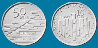 10 Euro Gedenkmünze Bundesbank Deutschland