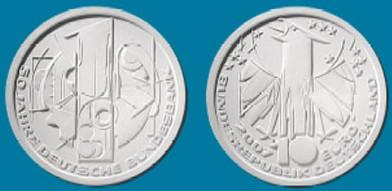 10 Euro 50 Jahre Deutsche Bundesbank