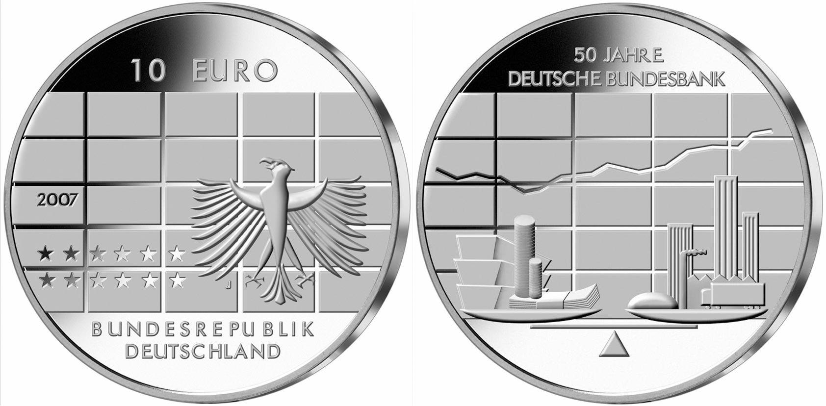 10 Euro Münze Deutsche Bundesbank Erschienen