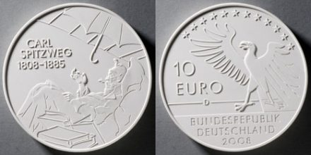 10 Euro Münze Carl Spitzweg 2008