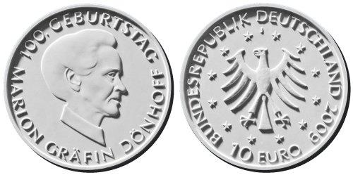10 Euro Münze Dönhoff 2009