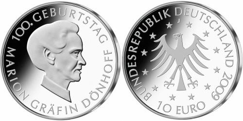 10 Euro Münze Gräfin Dönhoff