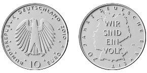 10 Euro Münze Deutsche Einheit 2010