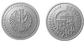 Entwurf 10 Euro Gedenkmünze Deutsche Einheit