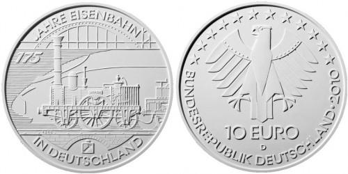 10 Euro Münze Eisenbahn 2010