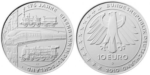 Entwurf 10 Euro Eisenbahn