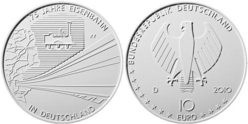 3. Platz: 10 Euro Münze Eisenbahn