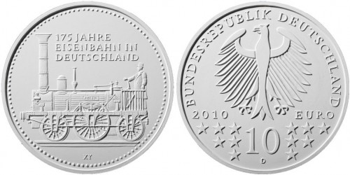 Platz 4: 10 Euro Eisenbahn