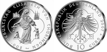 10 Euro Münze Elisabeth von Thüringen
