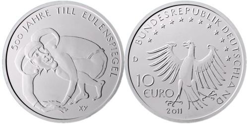 10 Euro Münze Eulenspiegel 2011