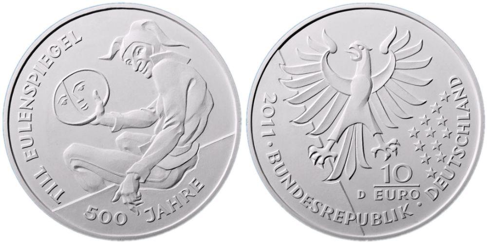 Entwürfe 10 Euro Gedenkmünze Eulenspiegel 2011