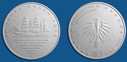 Siegerentwurf 10 Euro Münze Gorch Fock